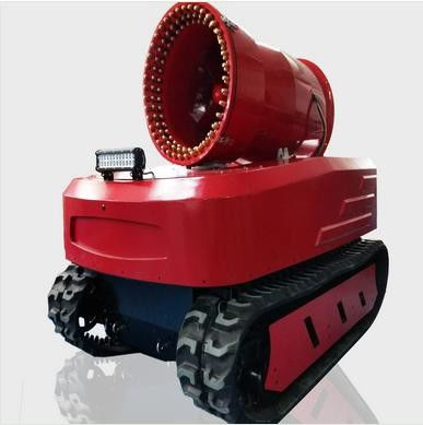 Protective Fire Fighting Equipment Remote Control Fire Smoke Detection Robot