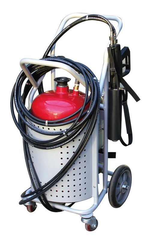 Trolley Water Mist Fire Extinguisher For Firefight Rescue 6.0 Bar Work Pressure