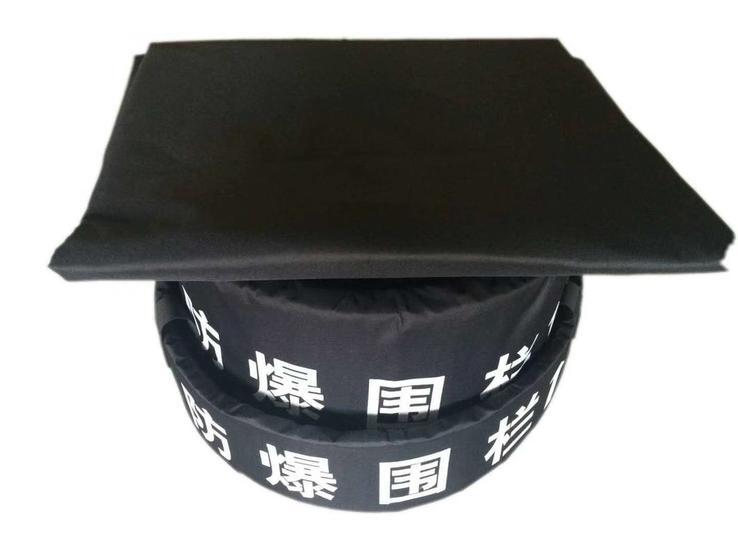 1.6m 3 Layers Eod Equipment Explosion Proof Blanket Black Color 1.600d Pvc Material
