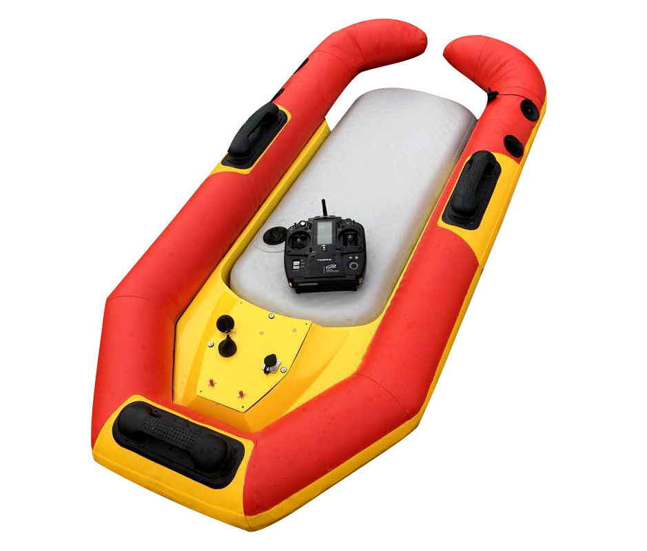 Water Rescue Remote Control Robot With A Symmetrical Anti Collision Airbag Design